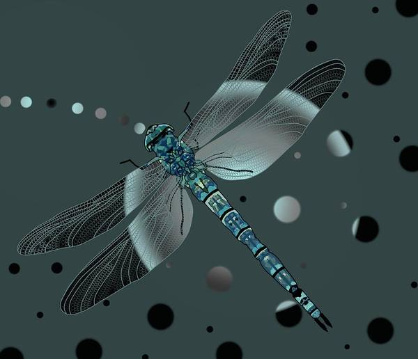 Wall Art - Drawing - Dragonfly Odyssey by Joan Stratton