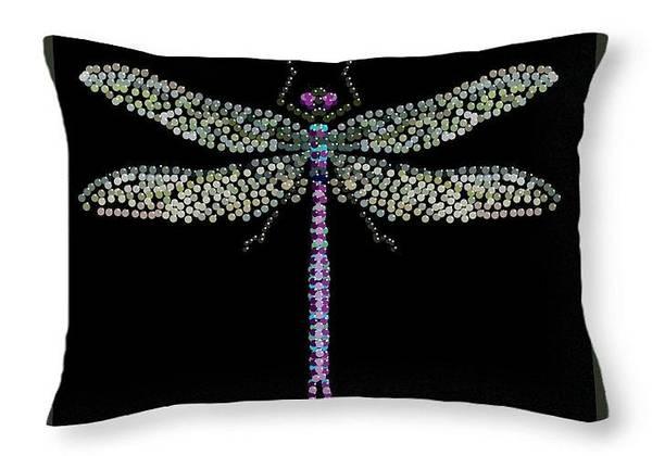 Digital Art - Dragonfly Pillow by R  Allen Swezey