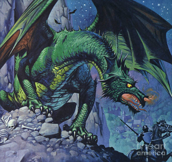 Wall Art - Painting - Dragons by Angus McBride