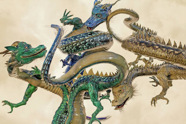 Wall Art - Digital Art - Dragons  by Betsy Knapp