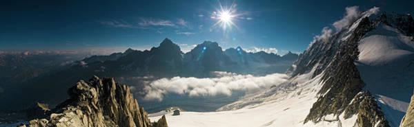 Wall Art - Photograph - Dramatic Alpine Sunburst Pinnacles by Fotovoyager