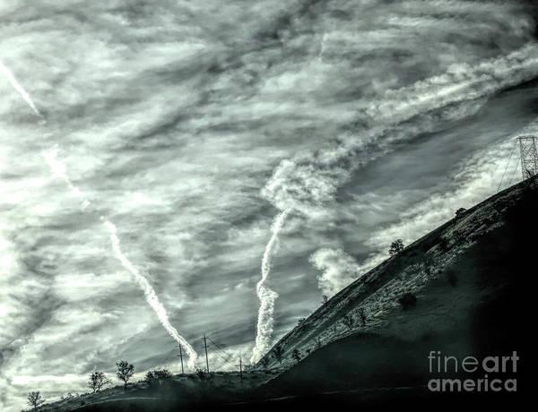 Wall Art - Photograph - Dramatic Cloud Designs California Grapevine  by Chuck Kuhn