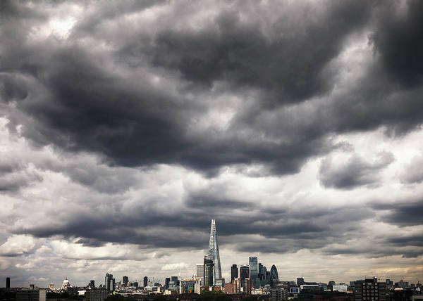 Tate Photograph - Dramatic Clouds Over London City Skyline by Shomos Uddin