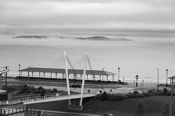 Photograph - Dramatic Fog Over Nahant From Revere Beach Revere Ma by Toby McGuire