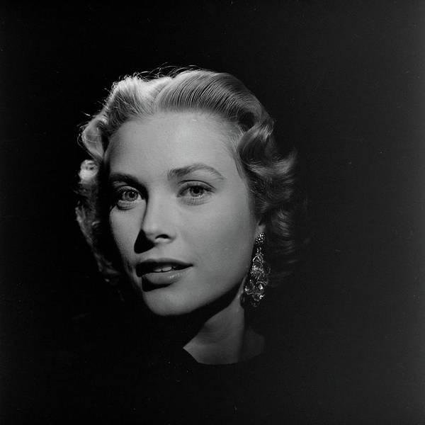 Princess Grace Photograph - Dramatic Headshot Portrait Of American by Loomis Dean