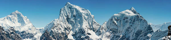 Gokyo Photograph - Dramatic Mountain Peaks Pristine by Fotovoyager