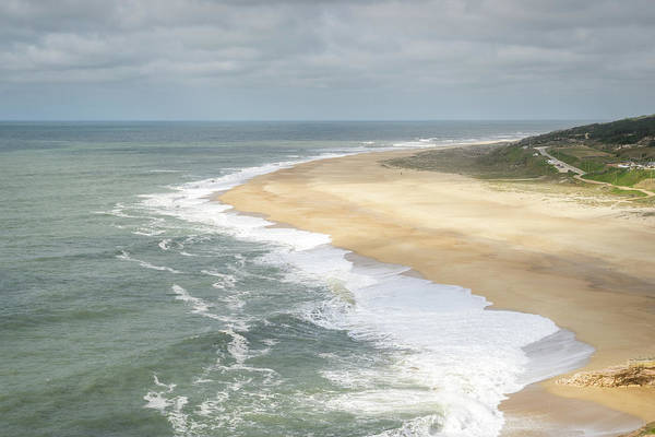 Photograph - Dramatic Naza - Extreme Surfers Destination Praia Do Norte In Nazare Portugal by Georgia Mizuleva