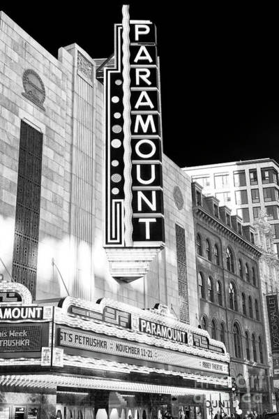 Photograph - Dramatic Paramount Theater In Boston by John Rizzuto