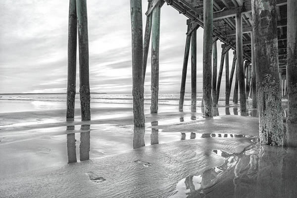 Orchard Beach Photograph - Dramatic Pier Sunrise In Black And White by Betsy Knapp