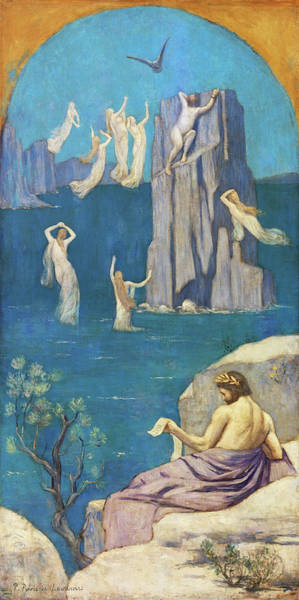 Wall Art - Painting - Dramatic Poetry, Aeschylus - Digital Remastered Edition by Pierre Puvis de Chavannes