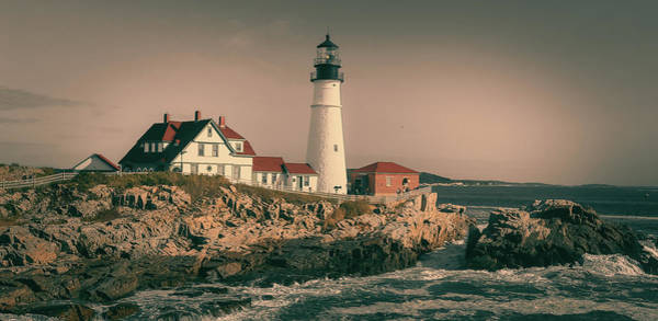 Photograph - Dramatic Portland Head Light by Dan Sproul