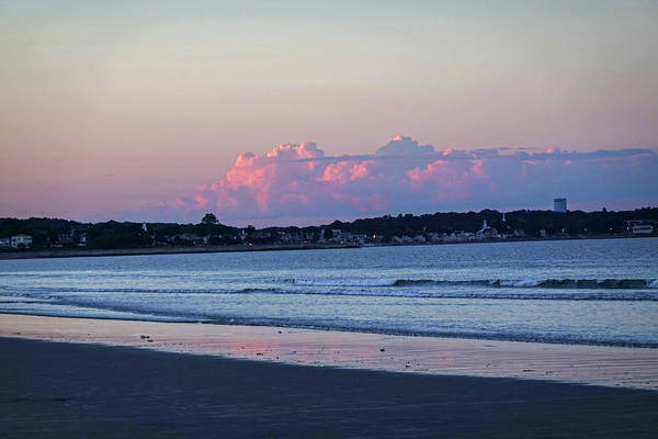 Photograph - Dramatic Red Clouds Over The Lynn Waterfront From Nahant Beach Nahant Ma by Toby McGuire