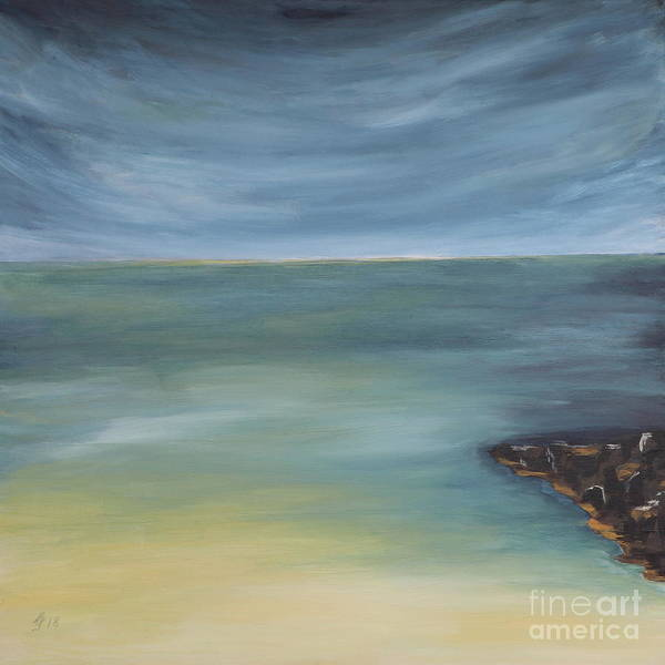 Wall Art - Painting - Dramatic Sky Over Tropical Beach by Christiane Schulze Art And Photography
