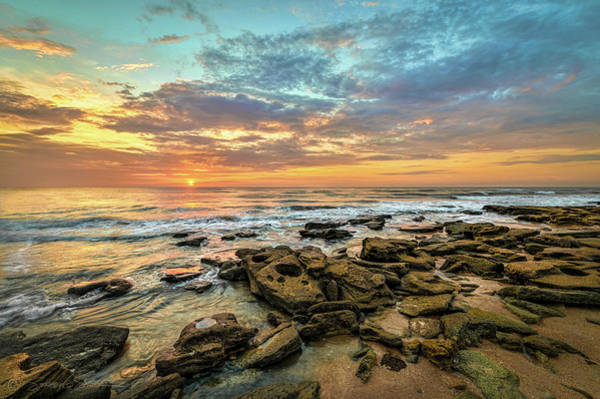 Photograph - Dramatic Sunrise Over Coquina Beach by Stacey Sather