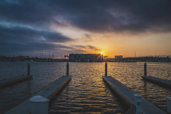 Photograph - Dramatic Sunset At Marina Del Rey by Andy Konieczny