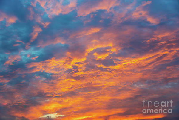 Wall Art - Photograph - Dramatic Sunset Sky by Delphimages Photo Creations