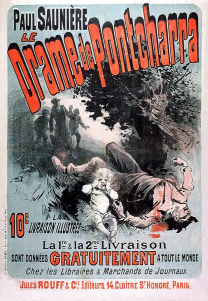 Painting - Drame De Poncharra 1885 Vintage French Advertising by Vintage French Advertising