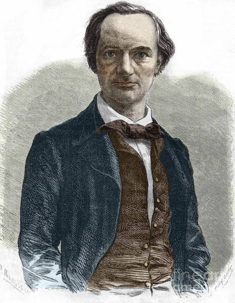 Wall Art - Drawing - Drawing Of Charles Baudelaire by French School