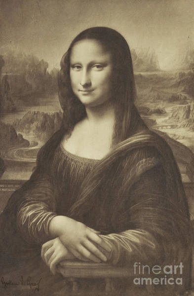 Wall Art - Photograph - Drawing Of The Mona Lisa By Millet 1854-55 Albumen Silver Print by Gustave Le Gray