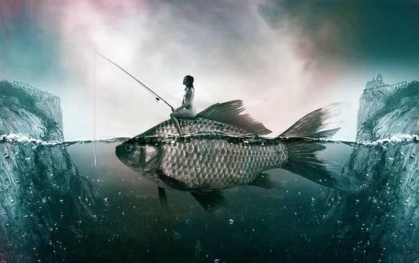 Courage Digital Art - Dream Fishing by ArtMarketJapan