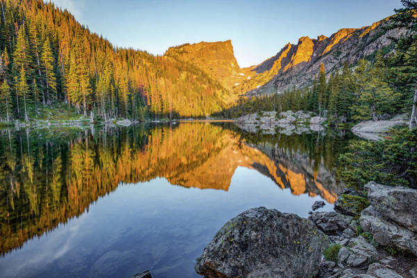 Photograph - Dream Lake Mountain Landscape Reflections by Gregory Ballos