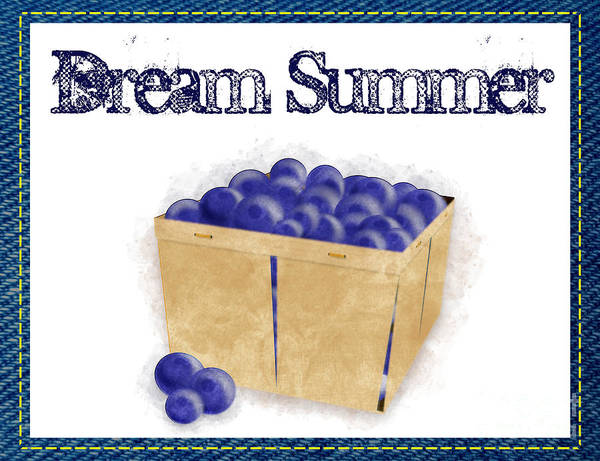 Photograph - Dream Summer - Basket Of Blueberries by Colleen Cornelius