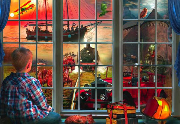 Wall Art - Digital Art - Dreaming Of Adventure Watercolors Painting by Debra and Dave Vanderlaan