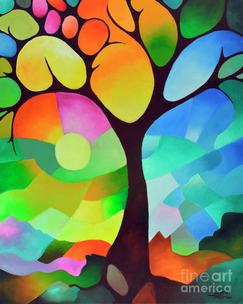 Painting - Dreaming Tree by Sally Trace