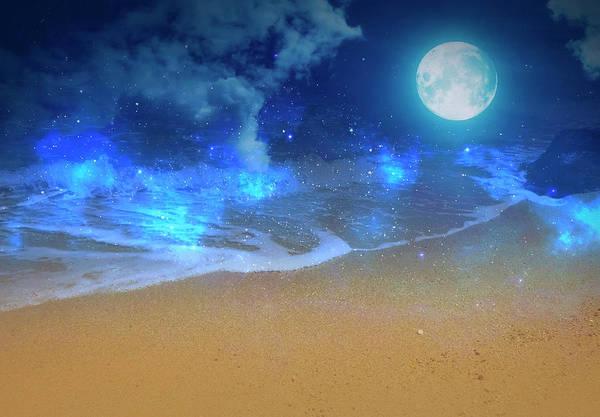 Wall Art - Mixed Media - Dreamland Beach Magically by Johanna Hurmerinta
