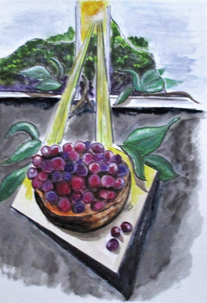 Painting - Dreams Of Grapes by Clyde J Kell