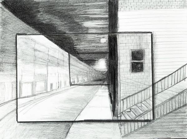 Drawing - Dreamscape Of A City by Lynn Hansen