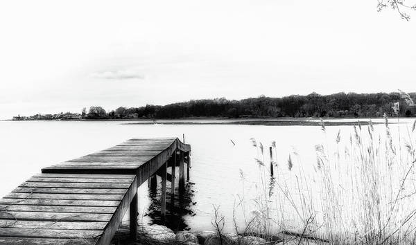 Photograph - Dreamy Dock In Black And White by Marianne Campolongo