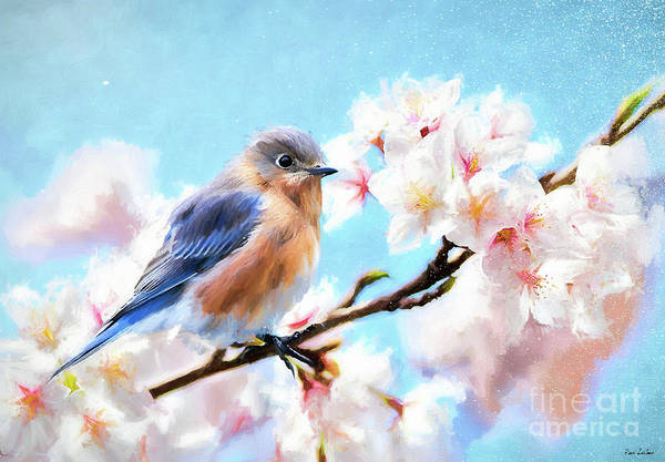 Note Book Painting - Dreamy Female Bluebird by Tina LeCour