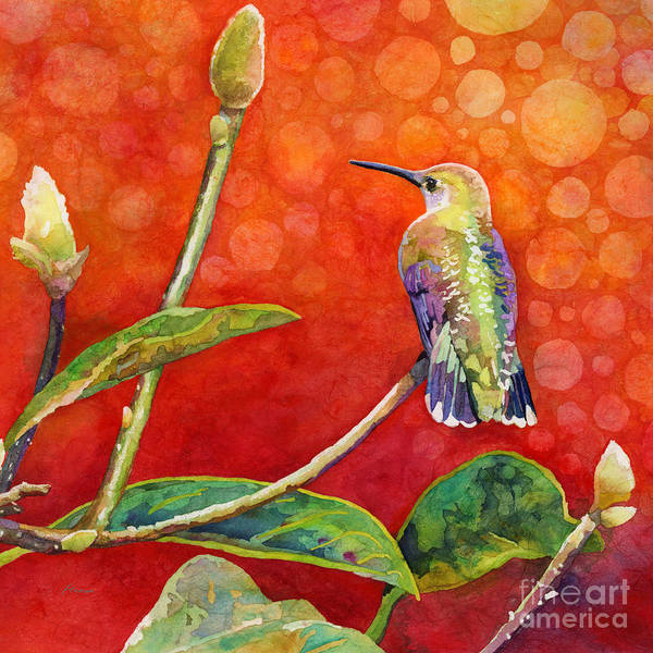 Wall Art - Painting - Dreamy Hummer by Hailey E Herrera