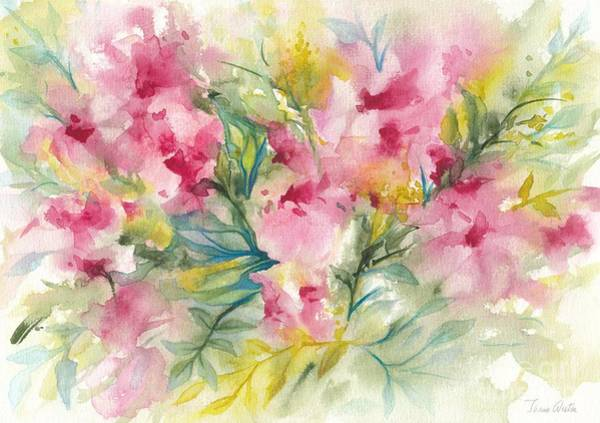 Painting - Dreamy Pink Floral by Ivana Westin