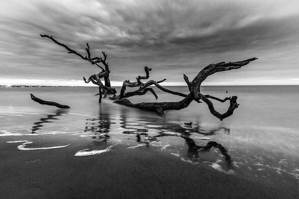 Photograph - Dreamy Tide In Black And White by Debra and Dave Vanderlaan