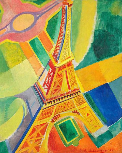 Wall Art - Painting - Digital Remastered Edition - Tour Eiffel by Robert Delaunay