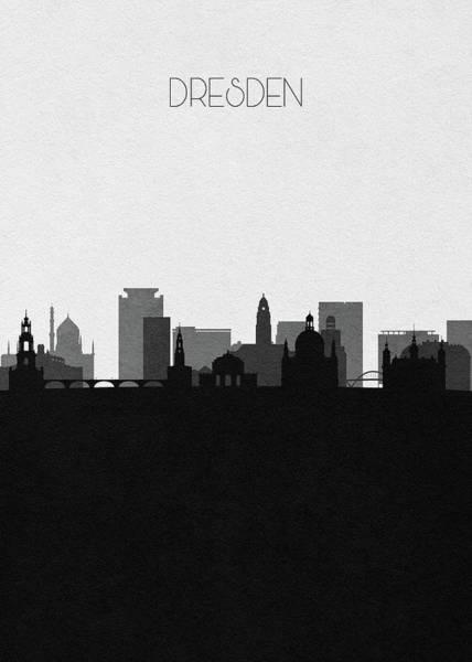 Digital Art - Dresden Cityscape Art by Inspirowl Design