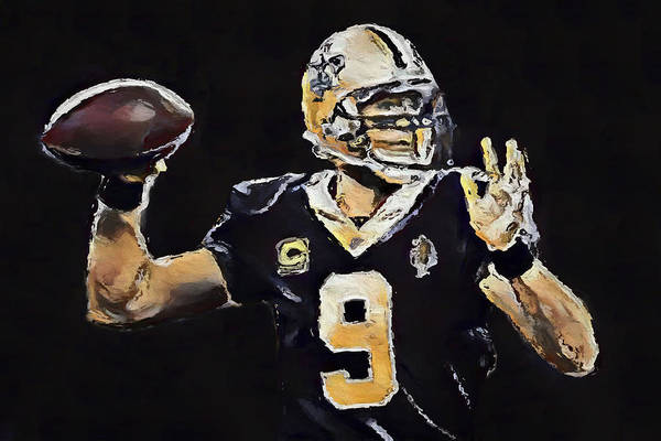 Wall Art - Painting - Drew Brees by Dan Sproul