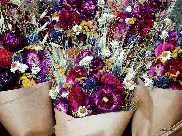 Photograph - Dried Flower Bouquets by Susan Savad