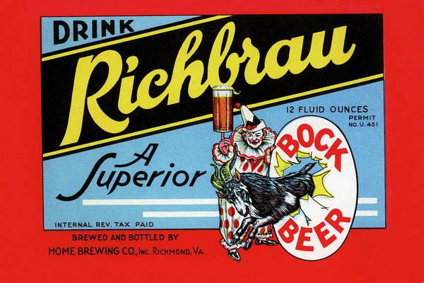 Lager Photograph - Drink Richbrau Bock Beer by Buyenlarge