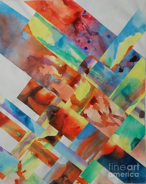 Primary Colors Mixed Media - Drip Weave by Gloria Cichy