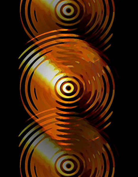Digital Art - Dripping Gold by David Manlove