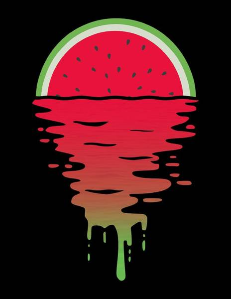 Wall Art - Digital Art - Dripping Watermelon Sunset by Filip Hellman