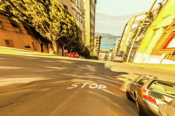 Wall Art - Photograph - Driving Down Streets In San Fancisco Can Be An Exciting Thing Be by Kim Vermaat
