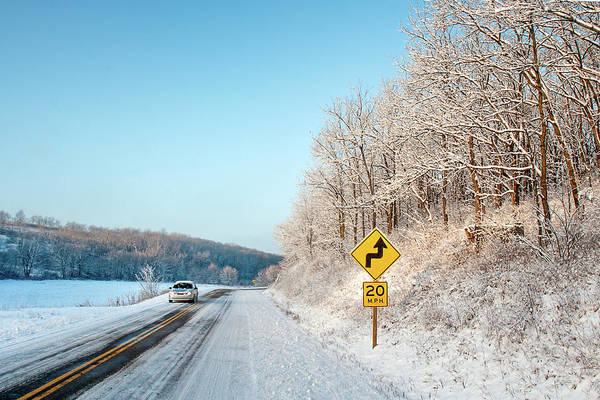 Wall Art - Photograph - Driving On Dangerous Winter Roads by Todd Klassy