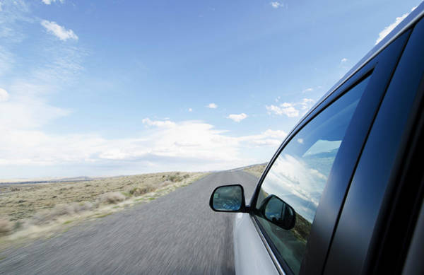 Driving Photograph - Driving On Wyoming Road by Nine Ok