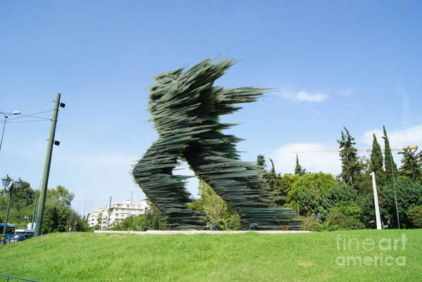 Athens Marathon Wall Art - Photograph - Dromeas The Runner  Athens by Costa Pisli