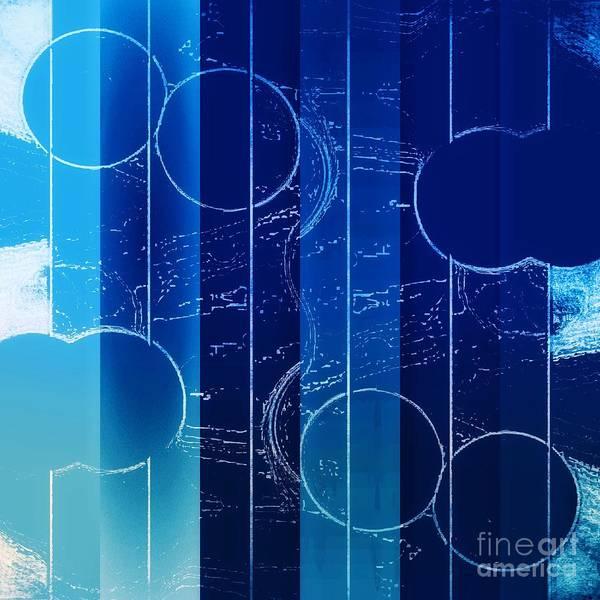 Mixed Media - Drop It Like It's Blue by Rachel Hannah