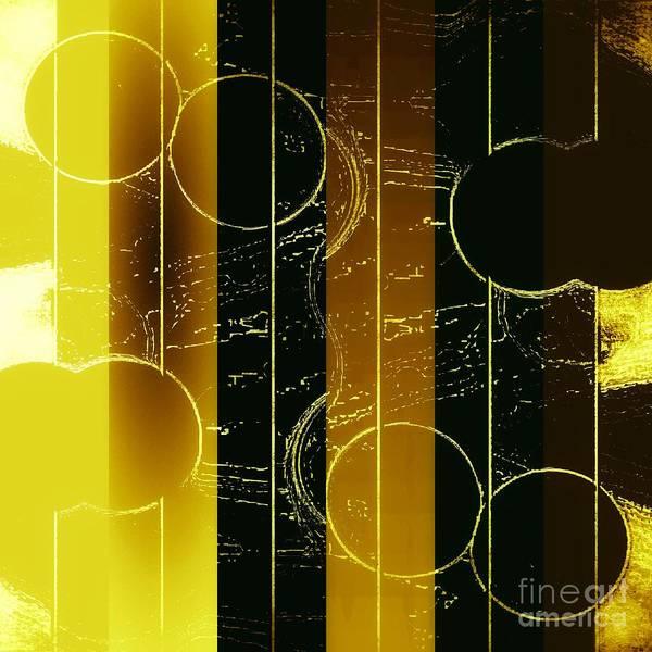 Mixed Media - Drop It Like It's Gold by Rachel Hannah